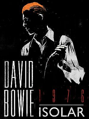 "David Bowie Isolar 1976 16"" x 12"" Photo Repro Concert Poster"