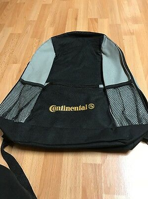 Continental Tire Black & Gray Backpack New