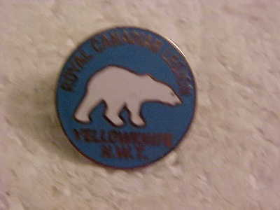Yellowknife Nortnwest Territories Royal Canadian Legion Lapel Pin Polar Bear