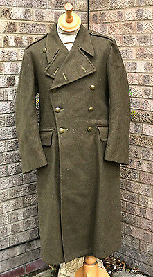 Vintage British Army Wool Greatcoat,good Condition,original. 40/41 Chest.