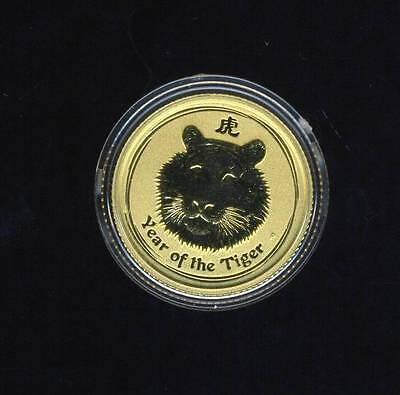 2010 Australian 1/10 oz Lunar Gold Year of The Tiger Coin - FREE POSTAGE