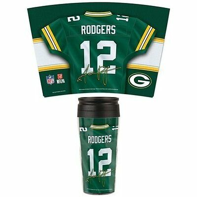 NFL Football GREEN BAY PACKERS Rodgers Reisebecher Thermobecher Travel Mug Tasse