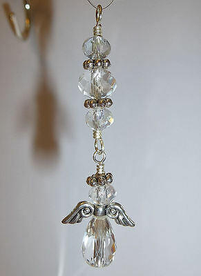 Small Handcrafted Crystal Angel Sun Catcher