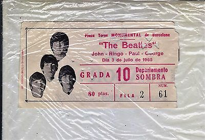 Beatles :entrada De Concierto Barcelona 1965-Free Shipping Worldwide
