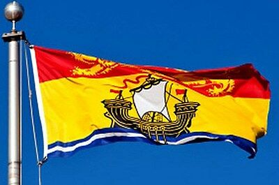 NEW 3x5 ft NEW BRUNSWICK CANADA CANADIAN FLAG