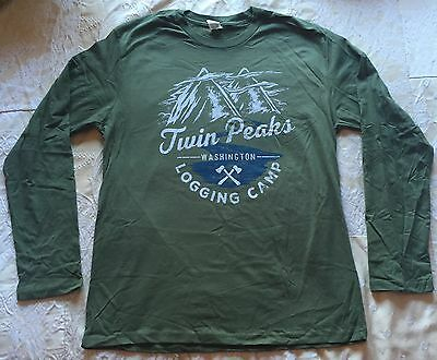 Twin Peaks 'Logging Camp' Long-SLeeved T-Shirt *Loot Crate DX Exclusive* Size L