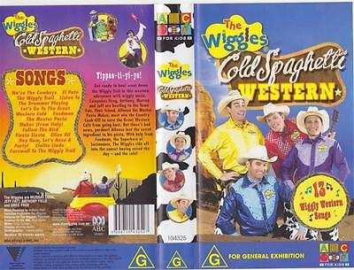The Wiggles Cold Spaghetti  Western Vhs Pal Video~ A Rare Find