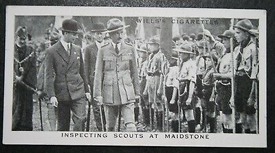 Boy Scouts   Royal Inspection  Maidstone     Vintage Photo Card
