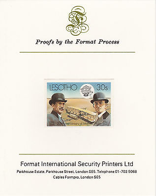 Lesotho 4216 - 1983 WRIGHT BROTHERS  imperf on Format International PROOF  CARD