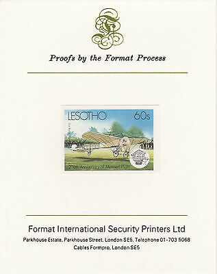 Lesotho 4217 - 1983 FIRST AIRMAIL  imperf on Format International PROOF  CARD