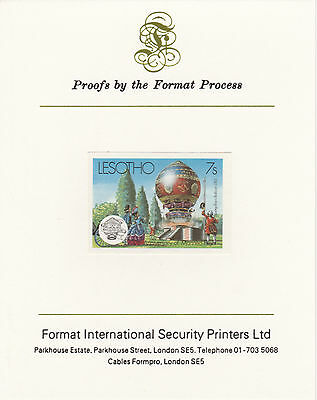 Lesotho 4218 - 1983 MONTGOLFER BALLOON  on Format International PROOF  CARD