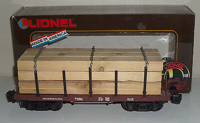 Lionel Large Scale Pennsylvania Flat Car Load 8-87501 G Train Usa Lgb Aristo Ob