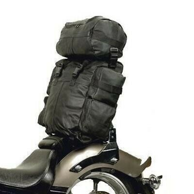2pc MOTORCYCLE SISSY T BAR WATERPROOF TRAVEL LUGGAGE BAGS FOR HARLEY -DD09