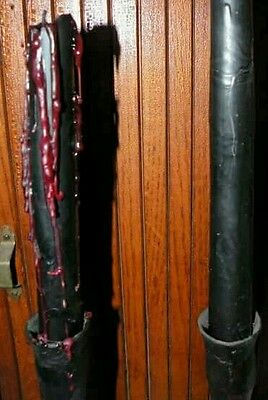 """Black & red Blood Drip Taper Candles NEW 10"""" Wiccan Gothic Pagan Halloween Vampi"""