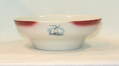 PAUL McCOBB Jackson China RESTAURANT WARE Serving Bowl VIKING SHIP Decoration