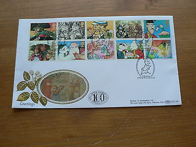 1993 Benham Silk Cover, Greetings (10 x 1st Stamps), Beatrix Potter 100 years