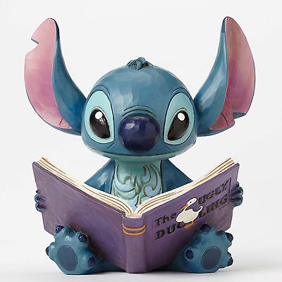 Disney Traditions Jim Shore STITCH Ugly Duckling Story Book Figurine 4048654