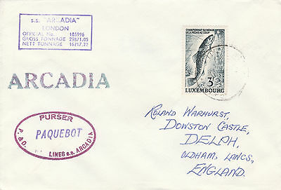 Luxembourg 4235 - 1969(?)  PAQUEBOT cover to England