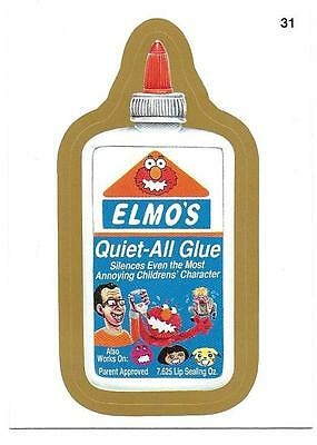 2013 Wacky Packages ANS 11 GOLD #31 Elmo's Glue