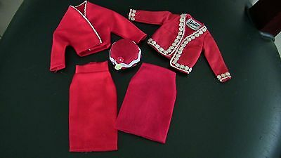 Barbie Japanese Exclusive Red White Jacket with Repro Hat, skirt LOT