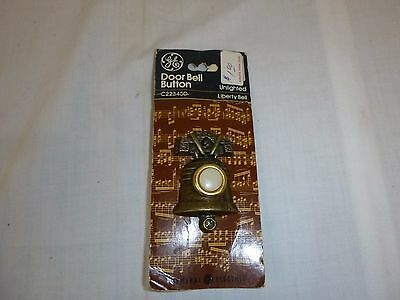 NEW Vtg 1976 General Electric GE Liberty Bell Shaped Doorbell Button Orig Pkg