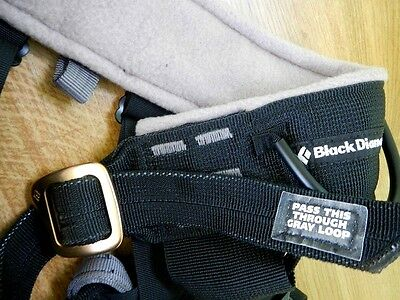 Black Diamond Bod Sit Harness, LARGE Size - Made in USA - VGC