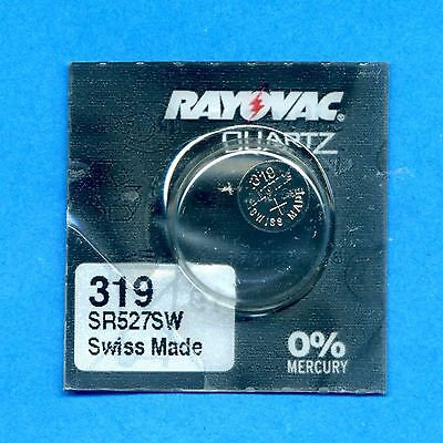4 x 319 SR527SW V319 D319 SR64 1.55V Silver Oxide Watch Cell Batteries Rayovac