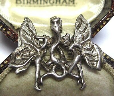 VINTAGE Adorable Magical Naked FAIRY Solid Sterling SILVER Necklace PENDANT