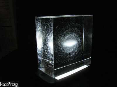 Astronomy Table Top - Milky Way Galaxy Crystal - Optical Glass Model