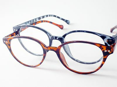 Round VINTAGE READING GLASSES Blue Tortoise Mens Womens +1 1.5 2 2.5 3 3.5 4