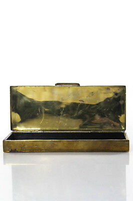 Ralph Lauren Vintage Gold Tone Stamped Bottom Jewelry Box