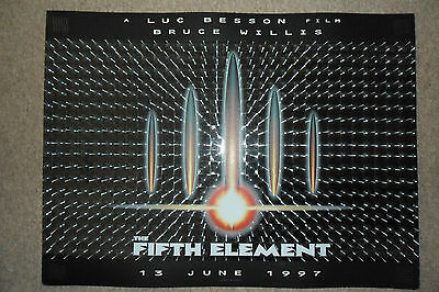 THE FIFTH ELEMENT - Limited Edition Quad Poster HOLOGRAM / 3D / LENTICULAR c1997