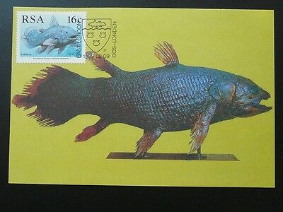 prehistoric fish coelacanth maximum card RSA South Africa 71871