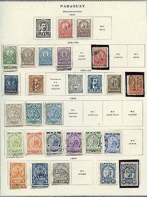Paraguay  I Selection Of Used And Mint Hinged Stamps As Shown