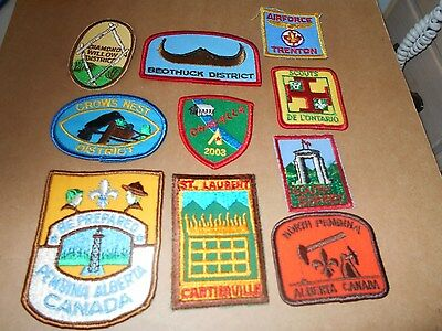 (Yj2-R) Ten More Listed Canadian Scout Badges