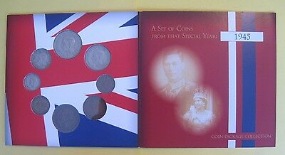 1945 Coin Year Gift set in presentation folder (George VI Halfcrown to Farthing)