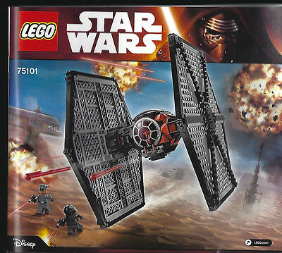 LEGO Star Wars 75101 First Order Tie Fighter Replacement Instruction Manual ONLY