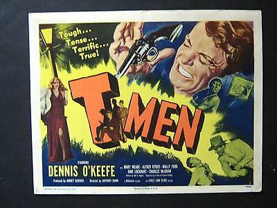 T-Men '48 Dennis O'keefe Is Undercover Treasury Agent Film Noir Title Card