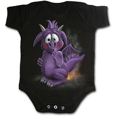 SPIRAL DIRECT Dragon Relief babygrow/romper/baby grow/suit/sleep/cute/funny