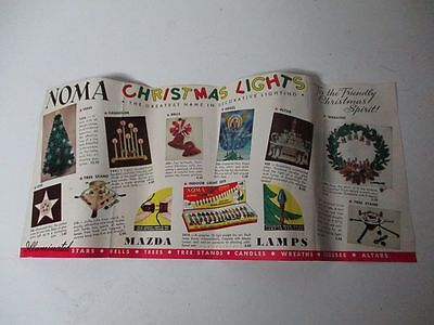 Vintage Noma Christmas Light Brochure