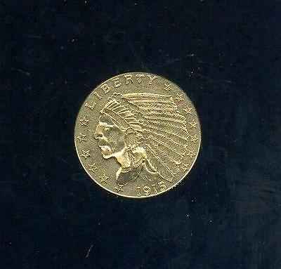 1915 United States Gold 2 1/2 Dollars Indian Head