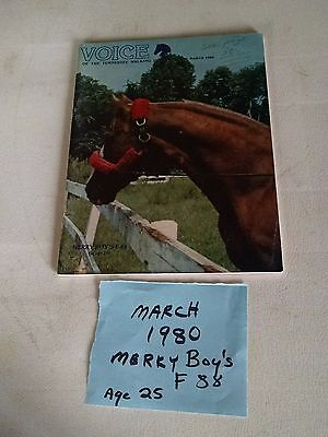 Vintage Mar. 1980  Voice of The Tennessee Walking Horse  Magazine Merry Boy F88