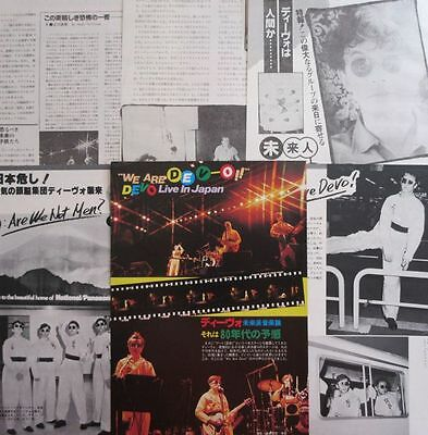 DEVO Live in Japan 1979 CLIPPING JAPAN MAGAZINE ML 7A 8PAGE