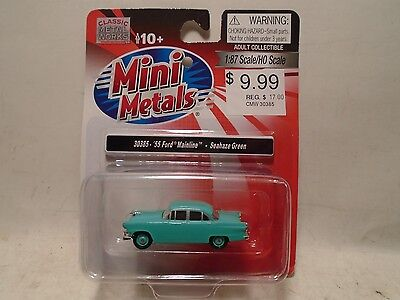 Classic Metal Works #30385 Ho Scale '55 Ford Mainline Seahaze Green New
