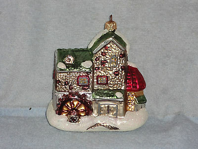 Dept 56 Night Before Christmas Dickens Village Mill Glass Ornament #987/25000