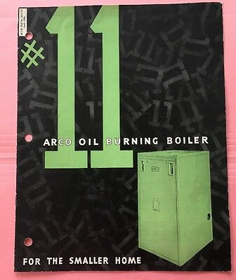 JE147 Vintage 1935 Arco Oil Burning Boiler Advertisement Guide