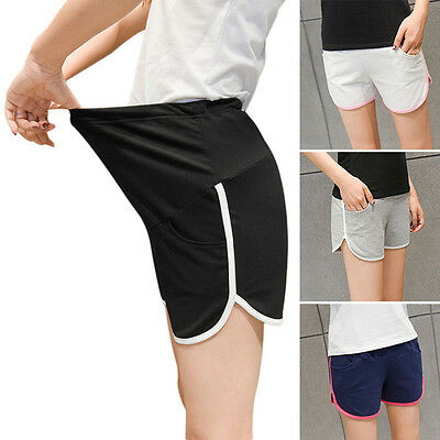 New Maternity Shorts Pregnant Women Double Color Outdoor Sports Fitness Pants