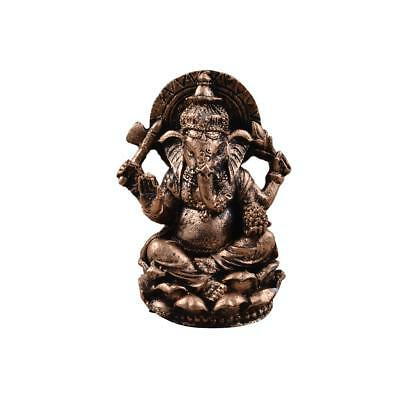 Resin Meditation Ganesha Buddha Statue Hand-paint Wealth Luck Hindu Craft #1