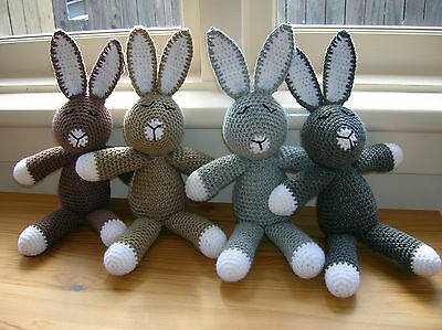 Crochet Bunny Soft Toy - Amigurumi Rabbit - Knitted and Crochet Toys & Gifts