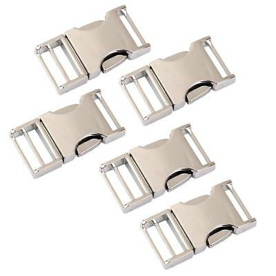 5pcs 20mm Metal Side Release Curved Buckles Clasps for Paracord Bracelets